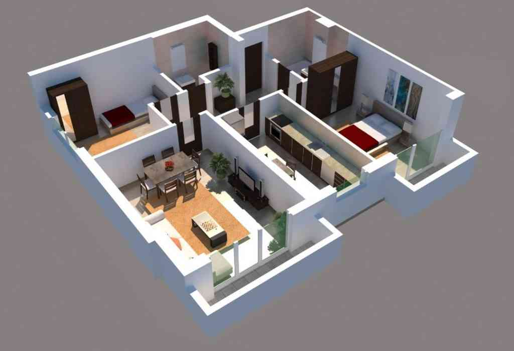 Apartament 3 camere imagine 3D
